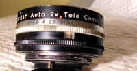 Vivitar tele converter vis screw 1x2 , f1.4 perf. working order