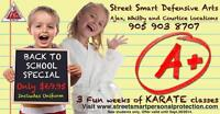 BACK TO SCHOOL KARATE CLASS SPECIAL