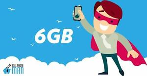 6 GB LTE DATA + Unlimited NATIONWIDE TALK + TEXT FOR 49$/mo - Cellphone M an Canada (2 million views)