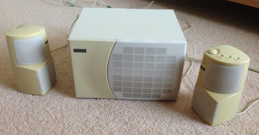 Vintage Altec Lansing ACS 495 computer speakers & subwoofer