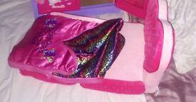 Build a bear bed and sleeping bag