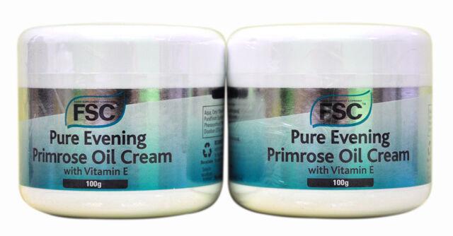 2 x Jars FSC Evening Primrose Oil Cream with Vitamin E 100g