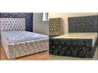 CHEAP , MONACO, GLITTER, SLEIGH Bed - FAST DELIVERY SINGLE DOUBLE KING AND SUPER KING SIZE