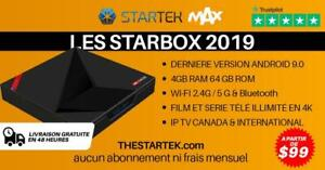 WOW ! STARBOX android 9.0 4GB RAM 5G WI-FI BLUETOOTH 4K  avec cadeau gratuit