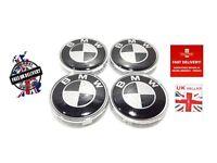 BMW 4 x 68 mm Carbon Fibre Wheel Centre Caps Badges Fits E34 E36 E39 E46 E60