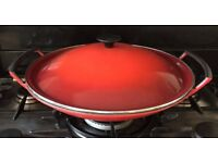 Le Creuset Wok. Red. Good condition.