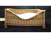 Wicker Basket, Medium Size, Suitable for any basket loving pet, Dog, Cat, Etc.