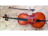 1/8 size Hungarian Cello with bow and soft case