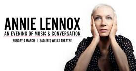 Annie Lennox Tickets London Sadlers Wells Theatre 04 March 2018