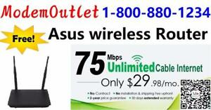 Free Asus RT-N12 Wireless N300 3-in-1 router for any cable internet plan