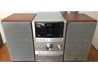 100W Sony CMT-SPZ90DB DAB mini HIFI MICRO Stereo CD MP3 DAB FM Cassette AUX input 4 iPod MP3 phone
