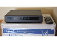 Boxed and Mint Remote controlled 80 watt per channel Quad Elite Integrated Amplifier. Price reduced