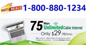 Free Shipping , 75M $29.98, 150M $49.98, Unlimited usage, no contract. Please order at 1-800-880-1234