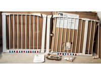 Mothercare wide walk through safety Stair Gates with extensions to fit most staircases