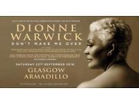Glasgow Hydro 22 Sep 2 Dionne Warwick Tickets for Sale