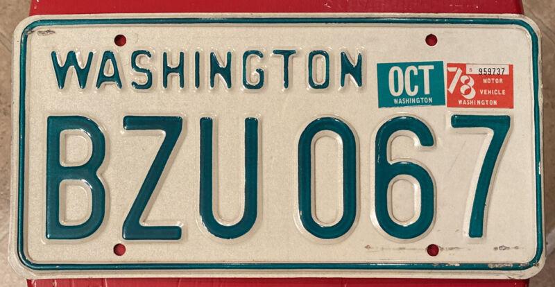 1968-1982 Washington State Passenger Vehicle License Plate Single Pierce County