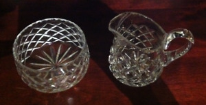 Crystal Candy Bowl and Small Pitcher