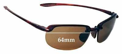 SFx Replacement Sunglass Lenses fits Maui Jim Ho'okipa MJ407N - 64mm (Maui Jim Australia)