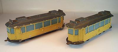 Verkehrsmodell Fahrschulmodell Tram Strassenbahn 2 teilig Metallguss 30er Jahre