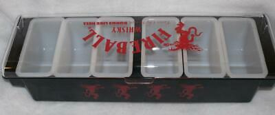 NEW FIREBALL CINNAMON WHISKY DRAGON 6 TRAY CONDIMENT HOLDER BAR -