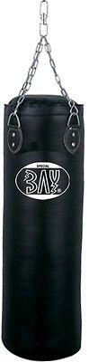 BAY® RIESEN 130 cm Sandsack mit Stahl Kette Boxsack Boxsäcke Set + Aufhängung