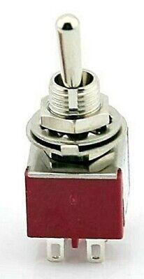 Dpdt Mini Toggle Switch On-on Solder Lug