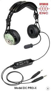 David Clark DC-Pro-X aviation headsets