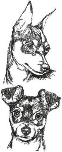 Miniature Pinscher Dog Breed Personalize Embroidered Fleece Stadium Blanket Gift