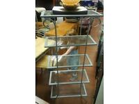 Tall 5 tier free standing shelves in new condition! £30 delivered
