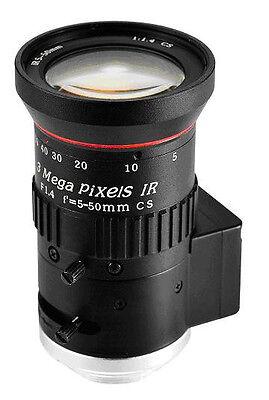 5 - 50 MM 50MM Auto iris,  Varifocal 3M Mega Pixel   CCTV camera IR 1/2.7