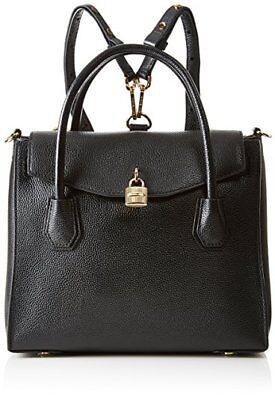 New Michael Kors Black Large Mercer All In One Bag Studio Backpack leather (Michael Kors All Black)