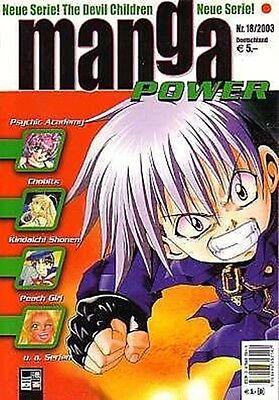 Manga Power Nr.18 u.a Peach Girl, Chobits, Devil Children, Psychic Academy, RAVE