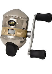 Zebco 22 gold spincast reel push button casting high for Push button fishing reel