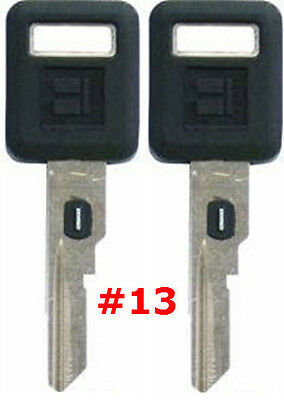 2 NEW GM Single Sided VATS Ignition Key #13 UNCUT V.A.T.S B62-P13