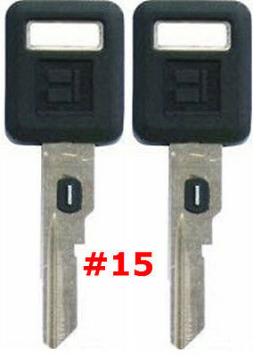 2 NEW GM Single Sided VATS Ignition Key #15 UNCUT V.A.T.S B62-P15