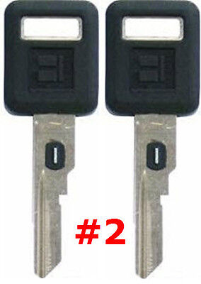 2 NEW GM Single Sided VATS Ignition Key #2 UNCUT V.A.T.S B62-P2