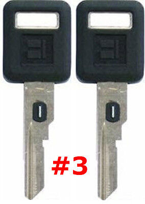 2 NEW GM Single Sided VATS Ignition Key #3 UNCUT V.A.T.S B62-P3