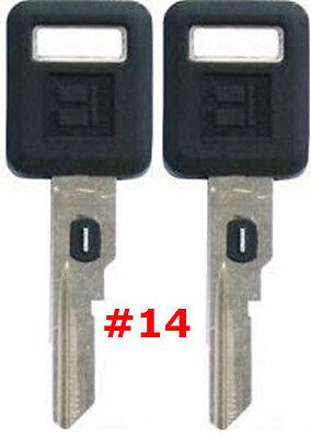 2 NEW GM Single Sided VATS Ignition Key #14 UNCUT V.A.T.S B62-P14