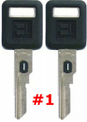 2 NEW GM Single Sided VATS Ignition Key #1 UNCUT V.A.T.S B62-P1 - MADE IN USA