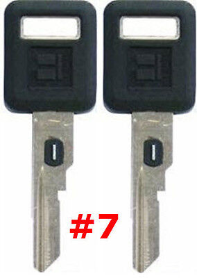 2 NEW GM Single Sided VATS Ignition Key #7 UNCUT V.A.T.S B62-P7