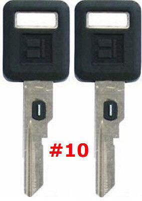 2 NEW GM Single Sided VATS Ignition Key #10 UNCUT V.A.T.S B62-P10 - MADE IN USA