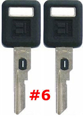 2 NEW GM Single Sided VATS Ignition Key #6 UNCUT V.A.T.S B62-P6