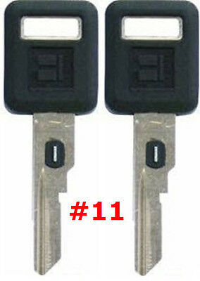 2 NEW GM Single Sided VATS Ignition Key #11 UNCUT V.A.T.S B62-P11 - MADE IN USA