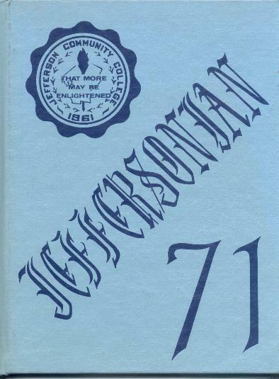 1971 Jefferson Community College Year Book  Watertown NY