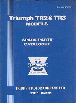TRIUMPH TR2 & TR3 ( 1953 - 1957 ) FACTORY SPARE PARTS CATALOGUE