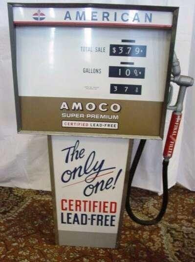 "1967 Standard Oil Gas Metal 30"" High ""T"" Pump Toy MIB NOS Never Assembled"