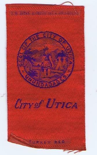City of  Utica  City  Seal S90 Egyptienne Luxury  silk 147