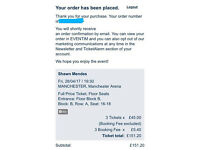 Shawn mendes manchester tickets