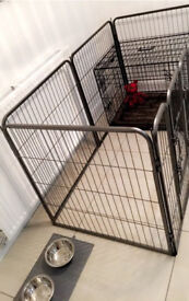 Dog Crate & Pen with boxes