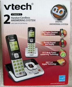 VTECH MODEL CS6829-2 2X CORDLESS HANDSETS + ANSWERING.